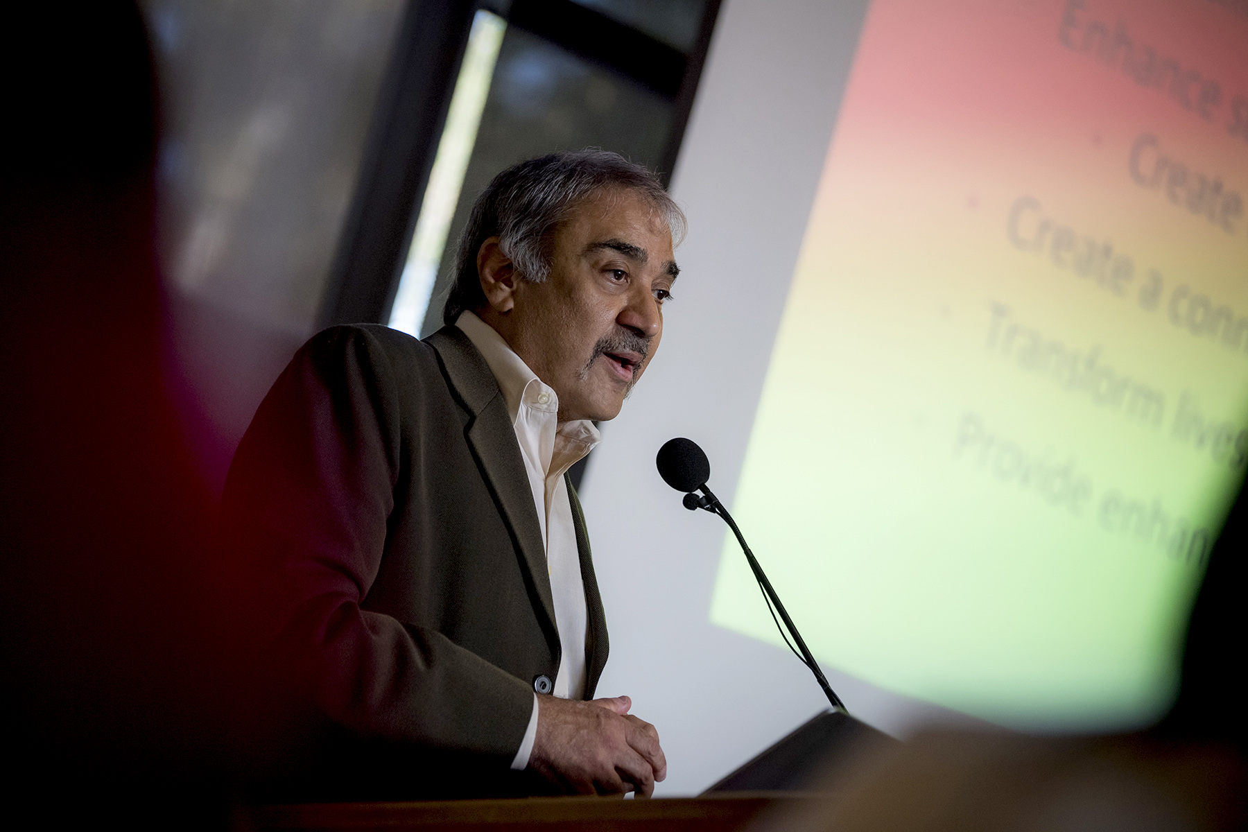Chancellor Pradeep K. Khosla speaking
