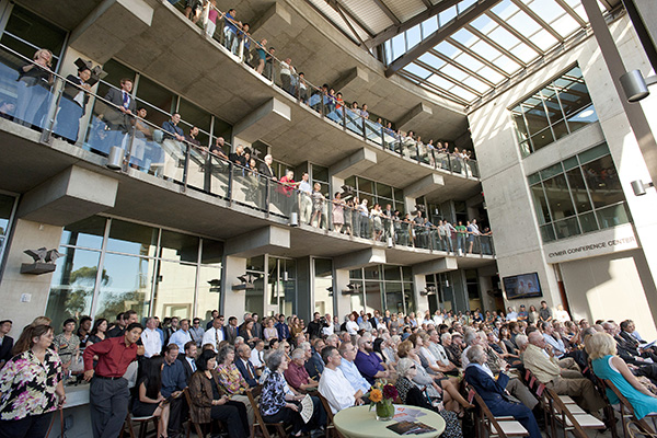 Attendees at the Structural and Materials Engineering building dedication