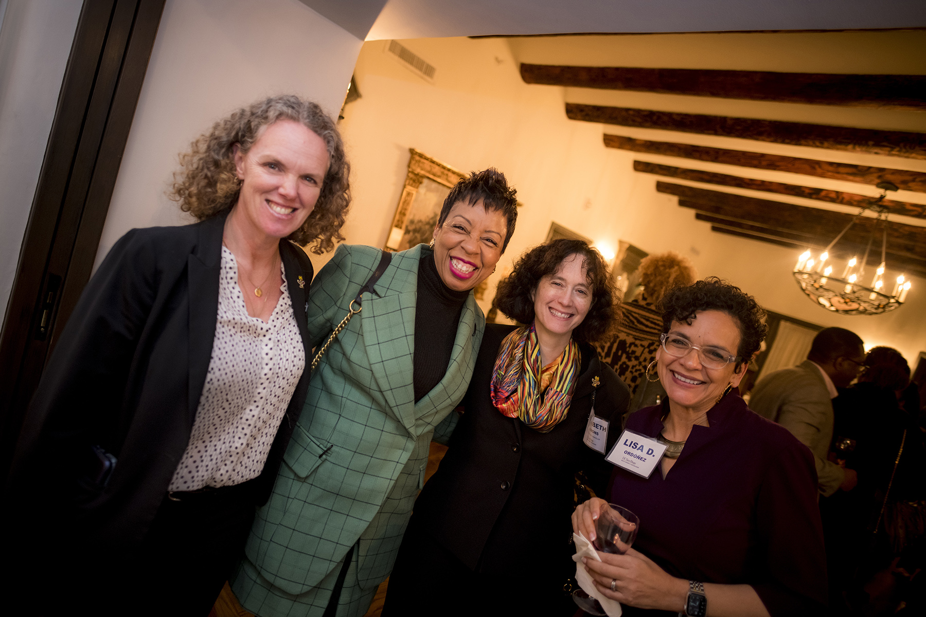 AVC Alison Sanders, Dr. Helen Griffith, EVC Elizabeth Simmons, and Dean Lisa Ordoñez at an event welcoming Dr. Griffith.