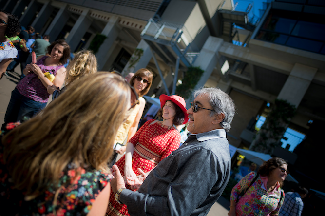 Chancellor Khosla at the 2019 Staff Summer Celebration