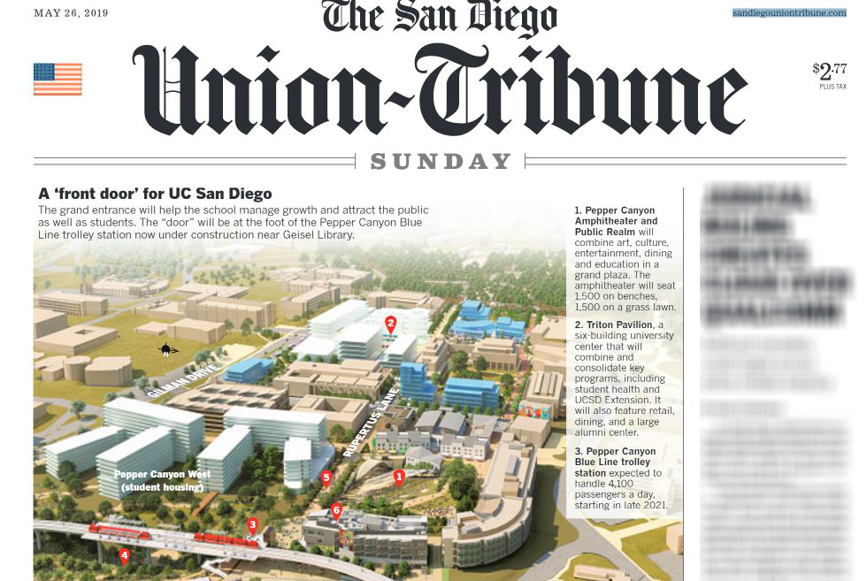 UT front page with story of UCSD Campus transformation