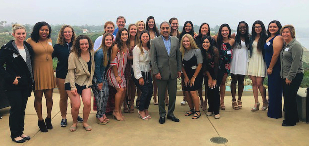 UC San Diego Chancellor Khosla with Triton Athletes at 2019 Breakfast of Champions