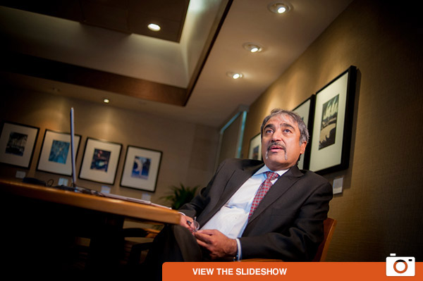 UC San Diego's eighth chancellor, Pradeep Khosla, arrived on campus August 1 for his first official day as chancellor.