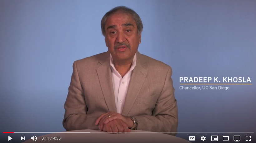 Chancellor Khosla provides an update about COVID-19 pandemic