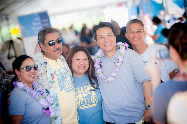 """At the annual Staff Picnic, Chancellor Khosla thanked staff for their hard work and for being """"the backbone of the university.""""  He also handed out ice cream and visited the affinity booths."""